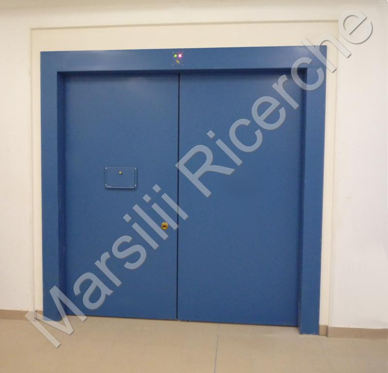 Automatic paneled barrier with one or two gates -